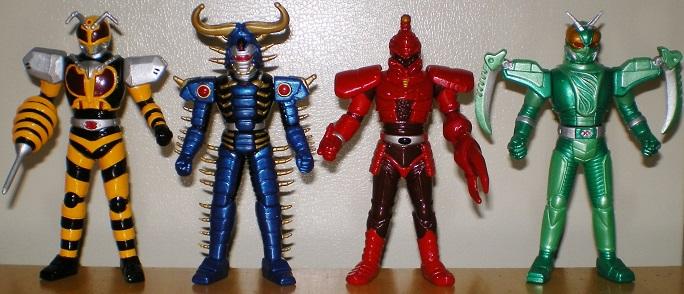 ビーファイターカブト ビークラッシャー 闇の四鎧将 結集!昆虫戦士8