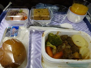 出発-大韓航空機内1