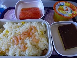 機内食-往路2
