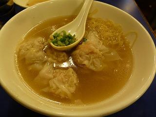 鶏記-食事(ワンタン麺)