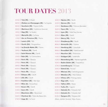 kaas tour dates 2013