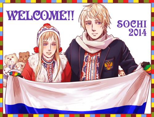 ソチ五輪で男女ロシア