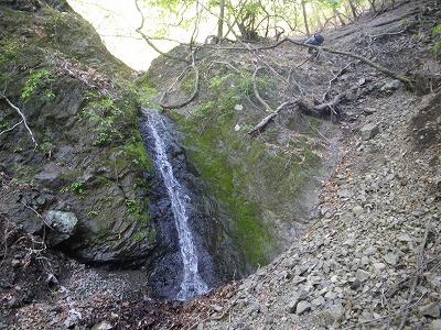 左俣唯一の滝