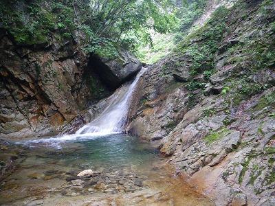 最初の6m滝