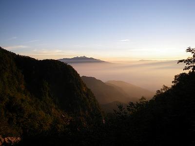 朝焼けの八ヶ岳