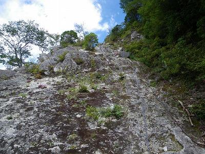 大石山への登り