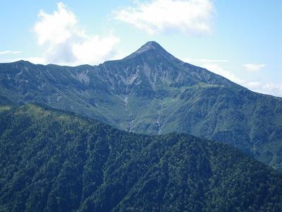 笠ヶ岳はピラミッド