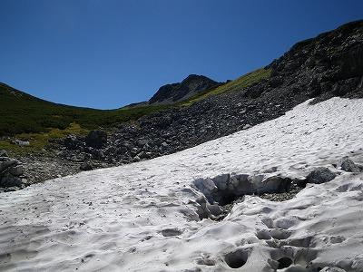 三俣蓮華の残雪