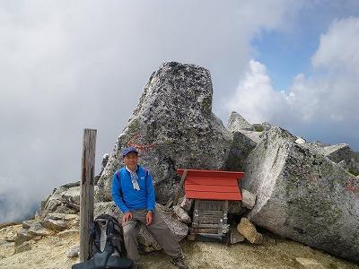 南駒ヶ岳山頂