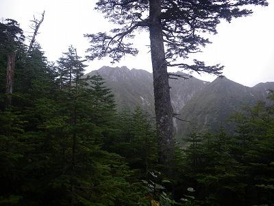 下山途中からの空木