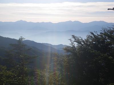摺古木山からの南ア