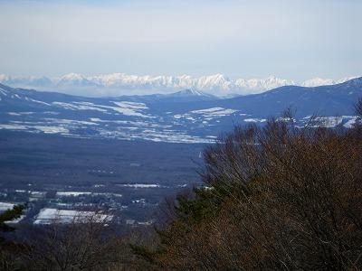 浅間隠山からの北アルプス