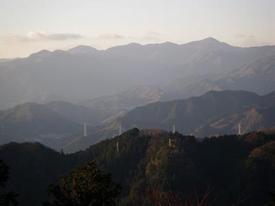 頂上からの丹沢