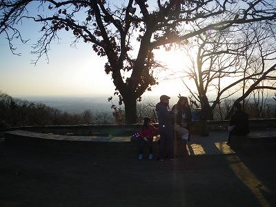頂上の朝日