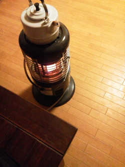 おうちのガスすとーぶに火がつきました