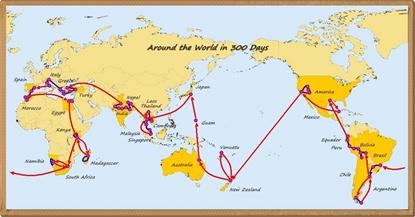 世界地図 国境入り 国名入り14b_x415