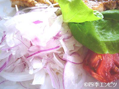201107 赤タマネギ 肉料理の付け合せ