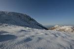 2014-01-04久住山下より山頂を見上げる