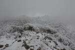 2014-01-11大船山頂から御池を見下ろす
