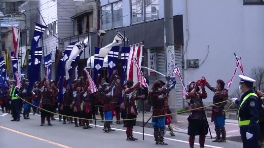 信玄公祭り 韮崎 商店街勝どき