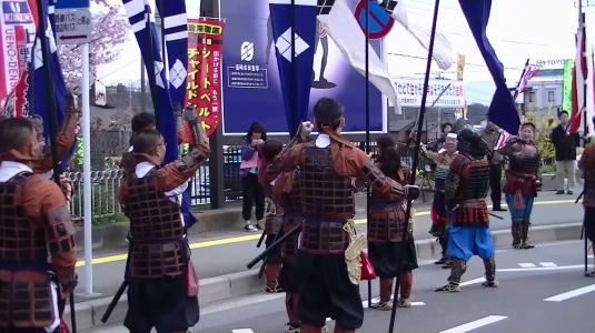 信玄公祭り 韮崎 かちどき