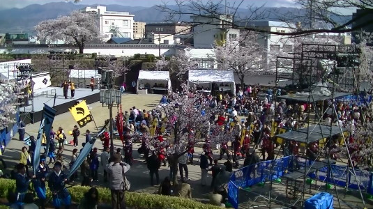信玄公祭り 甲州軍団 舞鶴城公園