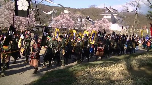 信玄公祭り 甲州軍団 舞鶴城 山県隊