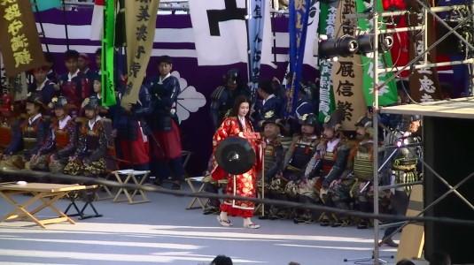 信玄公祭り 出陣式 湖衣姫