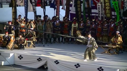 信玄公祭り 出陣式 戦勝祈願の舞