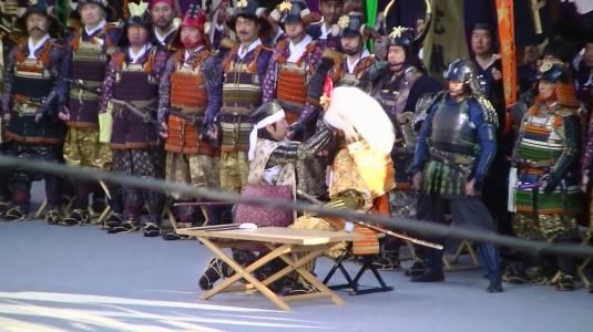 信玄公祭り 出陣式 兜着装の儀