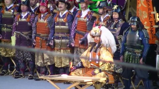 信玄公祭り 出陣式 兜着装の儀 完了