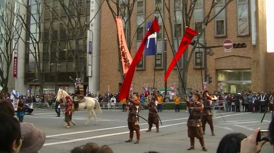 信玄公祭り 甲州軍団 出陣 小幡隊