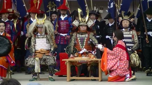 武田勝頼公祭り 三献の儀