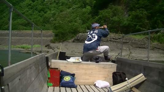 富士川舟運 船頭さん後ろ
