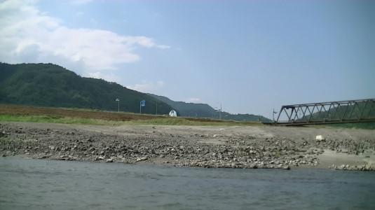 富士川舟運 ゴール近く