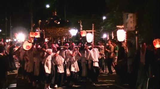 山中明神安産祭り 神輿 ダッシュ