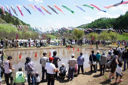 長沢鯉のぼり祭り2 どろんこレース 会場