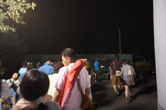 北杜ふるさとまつり 帰りのバス 行列