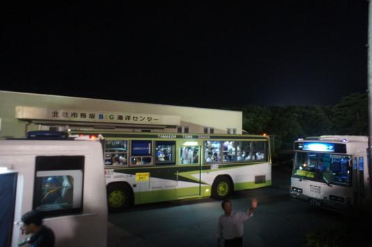 北杜ふるさとまつり 花火 帰りのバス