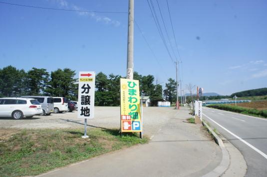 明野ひまわり 駐車場 北