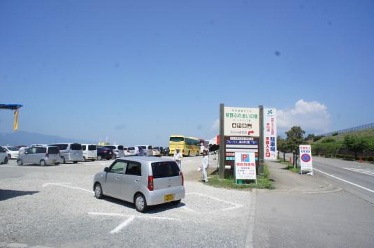 明野ひまわり 駐車場 メイン