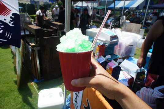 アリア祭り かき氷