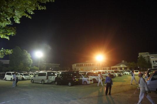 与一公祭り 会場駐車場