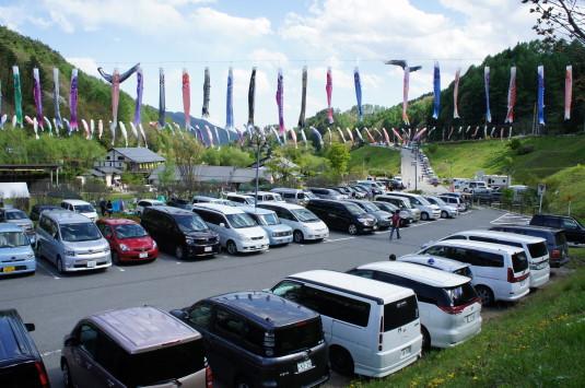 長沢鯉のぼり祭り1 駐車場