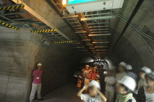 雁坂トンネルミステリーツアー 緊急用トンネル
