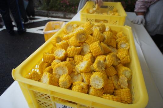 スイートコーン収穫祭 試食