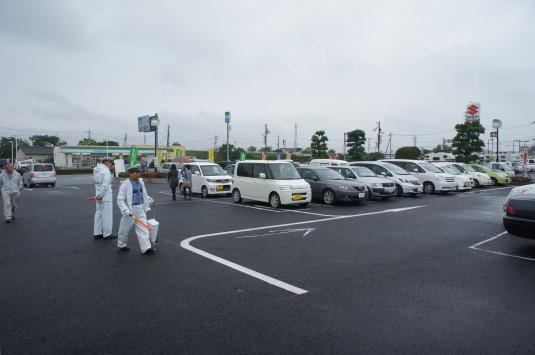 スイートコーン収穫祭 駐車場