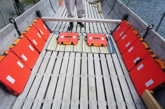 富士川舟運 船の中