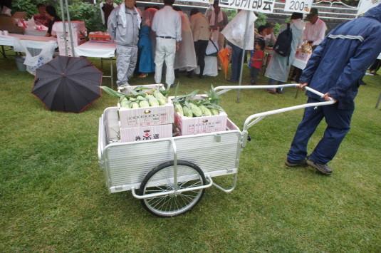 甘々娘収穫祭 リヤカー