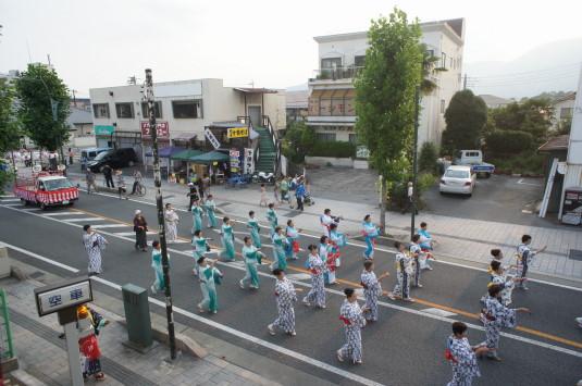 山梨市花火大会 盆踊り